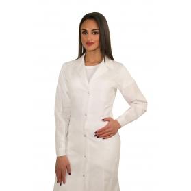 Camice donna bianco con clips